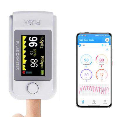 Gearbest Bluetooth TFT Screen Finger Clip Oximeter Pulse Saturation Monitor Heart Rate Detection Device