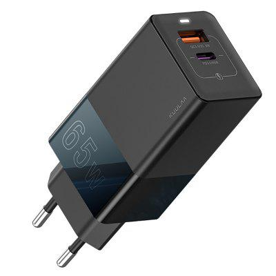 KUULAA KL-CD14 GaN Fast Charging  65W Charger QC PD Adapter Gallium Nitride Quick Charge EU Plug
