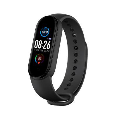 Gocomma M5 Smart Wristband Continuous Blood Pressure Oxygen Monitor Message App Push Fitness Tracker Color Screen
