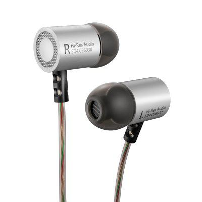 KZ KZ ED4 Stereo Metal Headphone Forged Copper Noise Isolation with Microphone HiFi In-Ear Music Earphone for Mobile Phone MP3 MP4