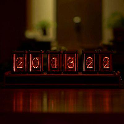 Gearbest - RGB Walnut Type 6-Bit Kit Time Electronic LED Luminous Glows Tube Clock