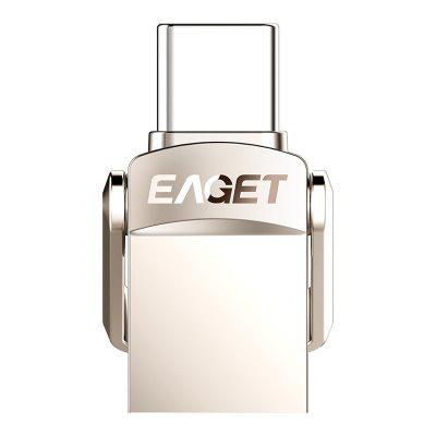 EAGET CU20 Type-C / USB3.1 2-in-1 Mobile Phone Computer Flash Drive Mini Flash Drive Memory Stick 32GB 64GB 128GB