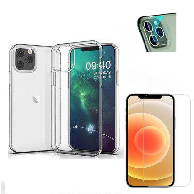 ASLING 3-in-1 Screen Protector + Camera Protective Film + TPU Phone Case for iPhone 12 Mini / 12 / 12 Pro / 12 Pro Max