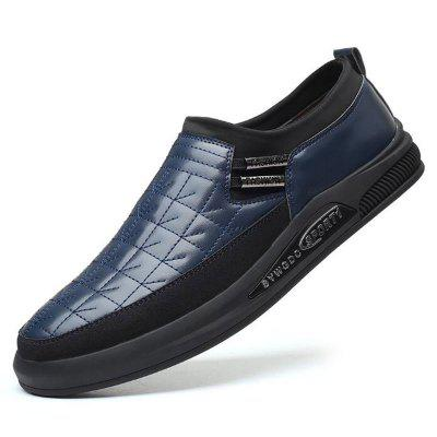 Syxz 465 Flat Shoes Microfiber Leather Stitching Non-Slip Soft Casual Business SHOES TRENDY FASHION