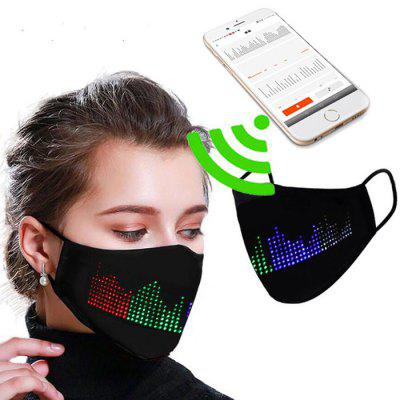 LED Display Luminous Mask Halloween Party Flashing Word One size