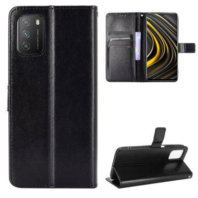 ASLING PU Leather Cover with Holder Wallet Card Storage Phone Case for Xiaomi Mi Poco M3