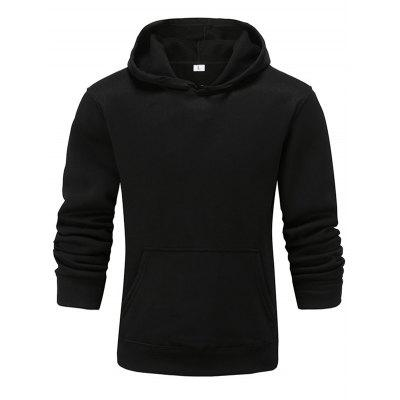 Pure Color Casual Long Sleeve Couple Hoodie