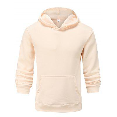 Men and Women Pure Color Casual Long Sleeve Couple Hoodie Sweater