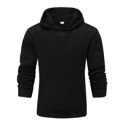Men and Women Solid Color Casual Long Sleeve Couple Hoodie Sweater