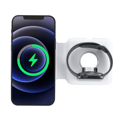 Magnetic Folding Wireless Charger 15W Mobile Phone Watch Two-in-One Wireless Charger for iPhone 12