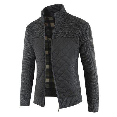 1808-DL180 Fashion Color Matching Thickened Warm Long-sleeved Mens Sweater