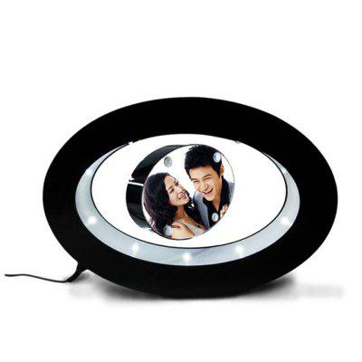 Magnetic Suspension Colorful LED Circular Photo Frame Lamp Decoration Crafts DIY Trimming Photos 360-Degree Light, Photo Frame Lamp