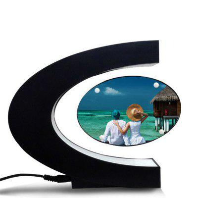 Magnetic Levitation LED Light Photo Frame Decoration C-shaped DIY Cropping Photos Ornaments, Ornament Craft