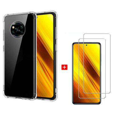 Asling 3-in-1 Screen Protection Film High Quanlity Transparent TPU Phone Case for Xiaomi Mi Poco X3