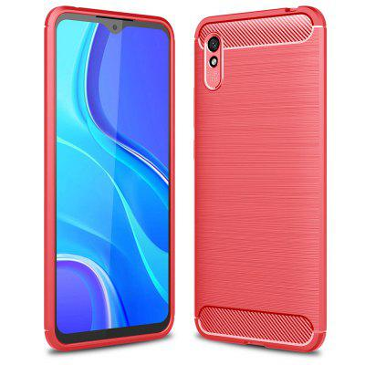 ASLING Carbon Fiber Series TPU Phone Case for Xiaomi Redmi 9A