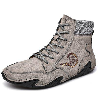 IZZUMI Men Shoes Mid-high Top Casual Fashion