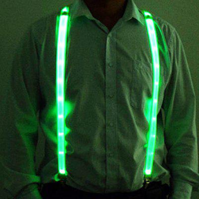 LED Luminous Strap 2.5CM x 115CM Color Polyester with Nickel-plated Clip