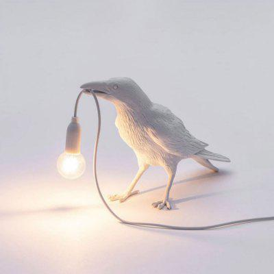 Auspicious Bird Table Lamp Creative Bedroom Bedside Animal Shape Wall Decoration