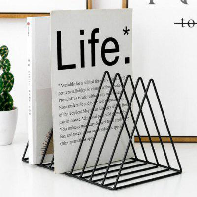 Monclique Desk Organizer Desktop Iron Books Office Table Bookshelf Simple Magazine Storage Rack Adult Student Creative File Stand