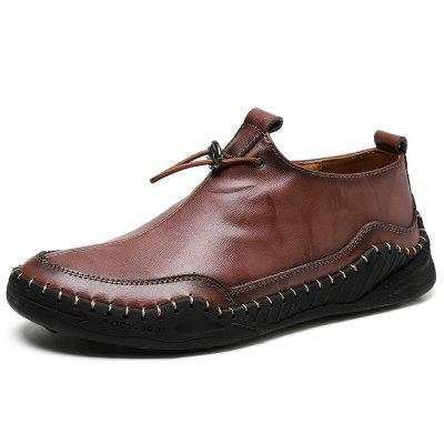 IZZUMI Men Outdoor Casual Leather Flat Heel Shoes