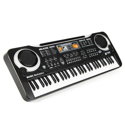 Childrens Electronic Organ with Microphone Multifunctional 61-key Piano Baby Musical Toy