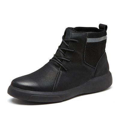 IZZUMI Men Boots Solid Color Mid-High Casual Footwear