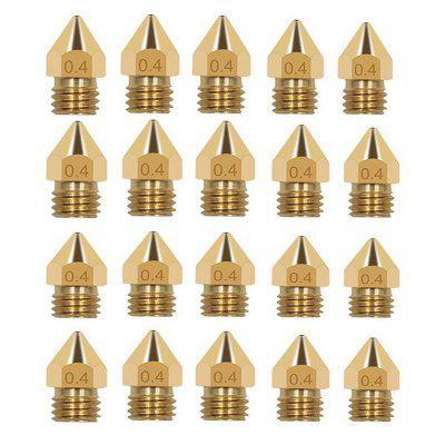 Alfawise MK8 Extruder Nozzle 0.4mm for 3D Printer 20PCS