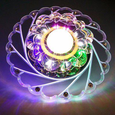 Crystal Round Ceiling Light LED Aisle Corridor Entrance Lamp