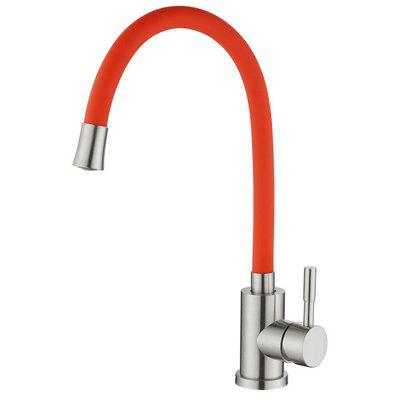304 Stainless Steel Hot and Cold Home Universal Pipe Kitchen Faucet