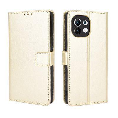 ASLING PU Leather Cover with Holder Wallet Card Storage Phone Case for Xiaomi Mi 11
