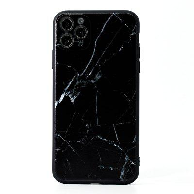 C1220-03405BK2 Marble Frosted Painted Soft Mobile Phone Case for iPhone 11 / Pro Max 12 Mini