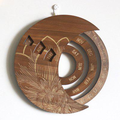 Creative Wooden Wall Hanging Calendar Home Decoration Craft