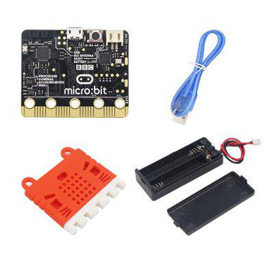 Microbit Motherboard Robot Development Board + Battery Box Data Line Silicone Protective Cover