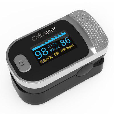 JZ-134R Household Finger Pulse Clip Oximeter Blood Oxygen Saturation Monitor PI Breathing Frequency Meter