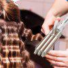 RESUXI-1010 Three-tube Egg Roll Stick Water Corrugated Curling Iron Hair Curler - WHITE