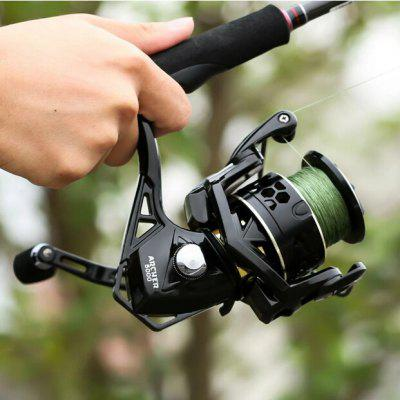 ecooda best selling 5 1bb spinning reel 5 1 1 gear ratio fishing reel max drag 8kg carrete de pescar bait casting aluminum spool Spinning Wheel 5.2:1 4.9:1 Fishing Reel Max Drag 13Kg 8+1BB Carp 2000-6000 Aluminium Spool Spinning Reel