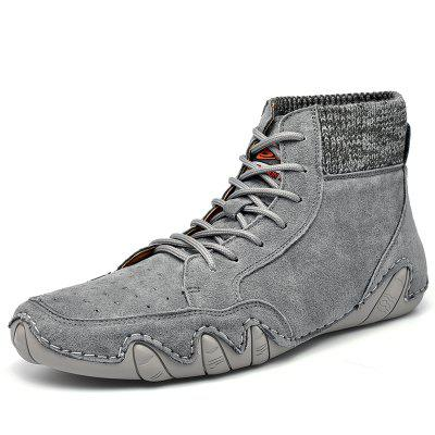 Fashion Trend Mid-cut Peas Shoes Casual Mens Boots