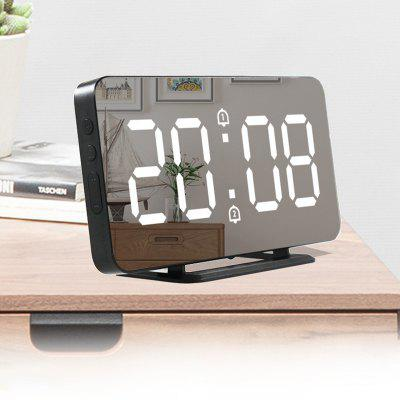 LED Mirror Alarm Clock Digital Electron Two temperature Modes