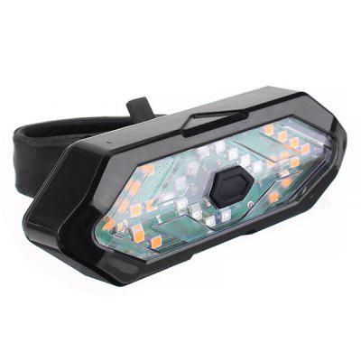 Waterproof High Brightness Decibel Wireless Remote Control Warning Bicycle Light Bike Taillight with Horn