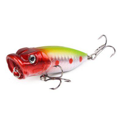 Fishing Lures 6.5cm / 12g Topwater Popper Bait 5 Colors Hard Bait Artificial Wobblers Plastic Fishing Tackle 1pcs whopper popper 14 5cm 36g topwater fishing lure artificial bait hard plopper soft rotating tail fishing tackle geer pesca