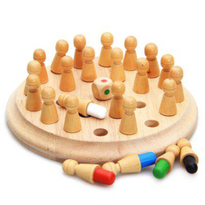 Color Wooden Memory Match Stick Chess Toys Funny Block Board Game Parent-Child Interaction Puzzle Toy Brain Teaser for Boys and Girls