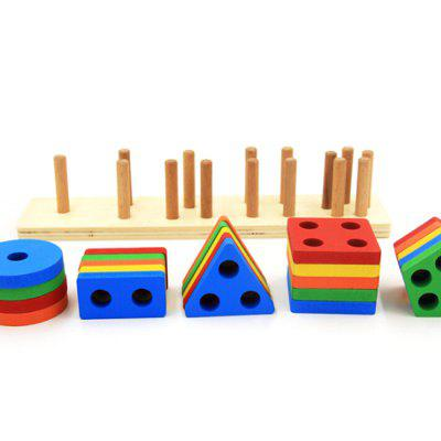 Wooden Educational Toy Color Sorting Preschool Stacking Blocks Toddler Puzzles Toys Birthday Gifts for Boys and Girls