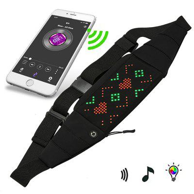 APP Controlled LED Light Chest Bag Backpack Messenger