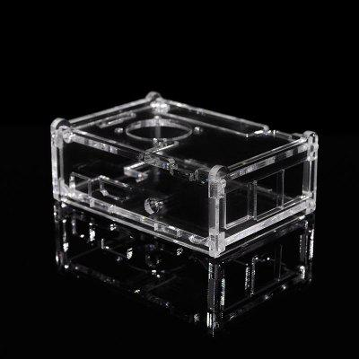 Acrylic Case Compatible Fan Installation Assembly for Raspberry Pi 4th Generation B+
