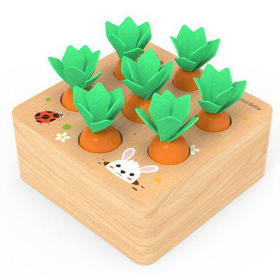 Children Carrot Puzzles Toy  Early Education Game Kindergarten Training Hand Eye Coordination