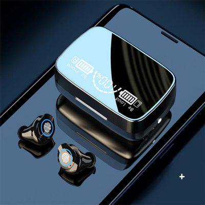 Фото - M9-17 Bluetooth Earphones Mirror 2000mAh Charging Case CVC Noise Reduction Wireless Headset Automatic Pairing LED Display Headphones sncn inflexible acrylic rearview mirror rain gear shield rear view mirror anti rain cover for hyundai sonata 2010 2015 2016