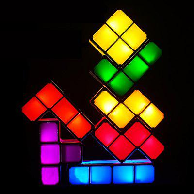 Tetris Lights LED Luminous Building Block Desk Lamp Bedroom Night Light Hotel Window Atmosphere