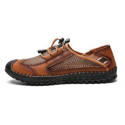 Men Summer Sandals Sports Mesh Casual Shoes Breathable Leather Footwear