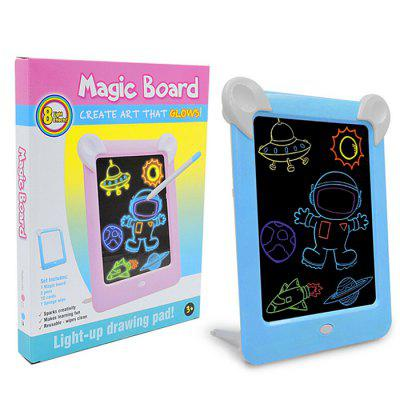 LED Luminous Painting Board for Kids Electronic Fluorescent Writing Childlight Message
