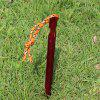Outdoor Bold Aluminum Alloy Tent Curtain and Floor Nail Triangular Floor Nail 18cm with Reflective Rope - RED